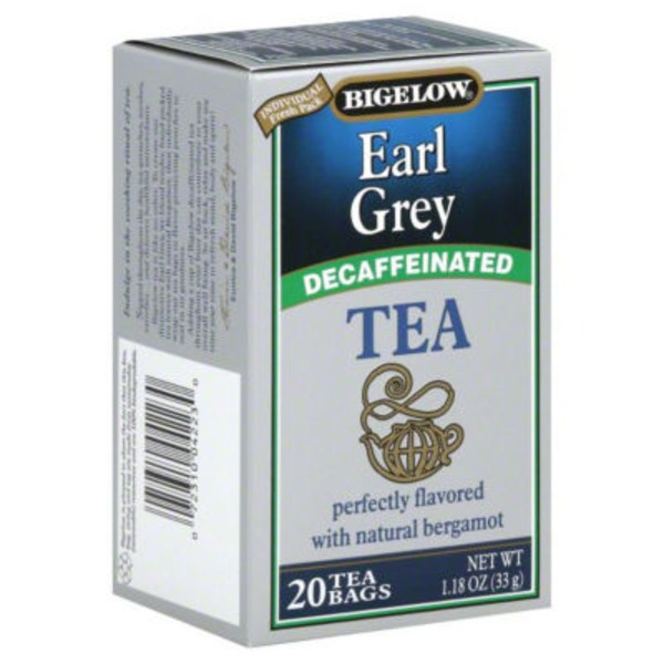 Bigelow Earl Grey Decaffeinated Blend Decaffeinated Tea Bags