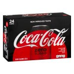 Coca-Cola Zero Sugar Soda, 12 Fl Oz, 24 Count