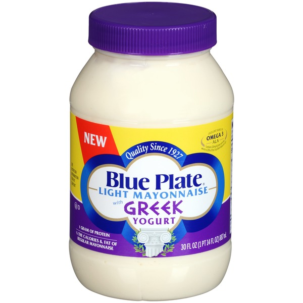 Blue Plate Light with Greek Yogurt Mayonnaise