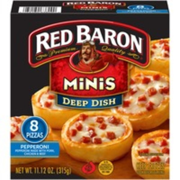 Red Baron Deep Dish Minis Pepperoni Pizza