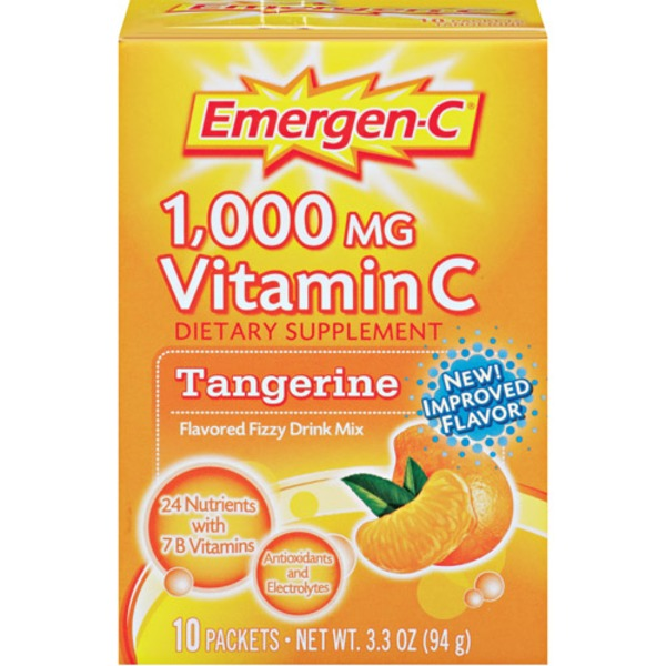 Emergen-C Tangerine 1000 Mg Vitamin C Flavored Fizzy Drink Mix