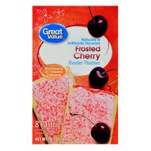 Great Value Frosted Toaster Pastries, Cherry, 14.7 oz, 8 Count