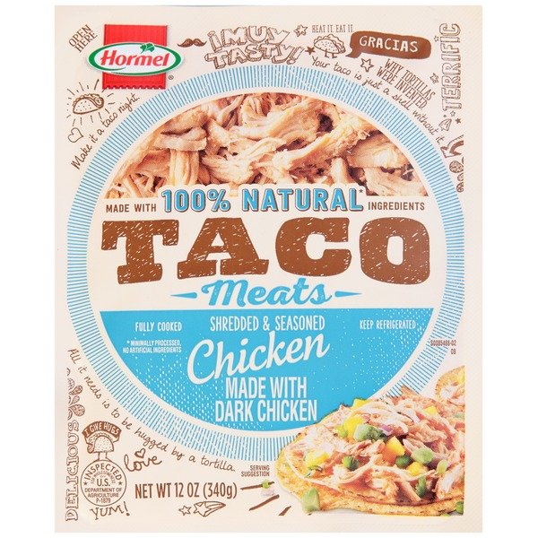 Hormel Taco Meats Shredded & Seasoned Chicken
