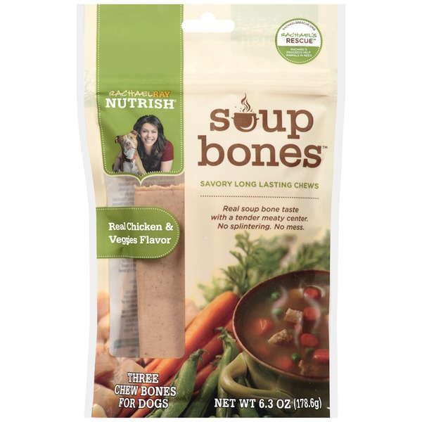 Nutrish Soup Bones Real Chicken & Veggies Flavor Chew Bones