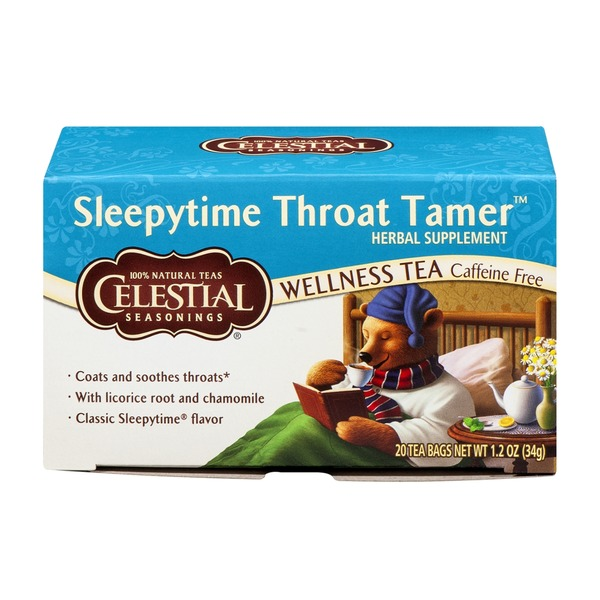 Celestial Seasonings Sleepytime Tea Sleepytime Throat Tamer - 20 CT