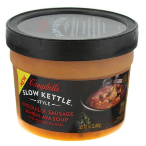 Campbell's Slow Kettle Slow Kettle Style Andouille Sausage Jambalaya with Chicken & Ham Soup