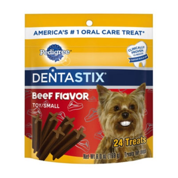 Pedigree Dentastix Toy/Small Mini Beef Flavor Dog Treats
