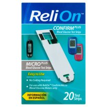 ReliOn Confirm/Micro Plus Blood Glucose Test Strips, 20 Ct