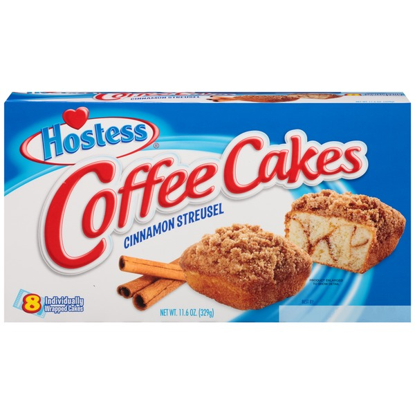 Hostess Cinnamon Streusel Coffee Cakes