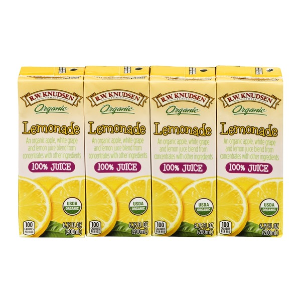 R.W. Knudsen Family Organic Juice Lemonade - 4 CT