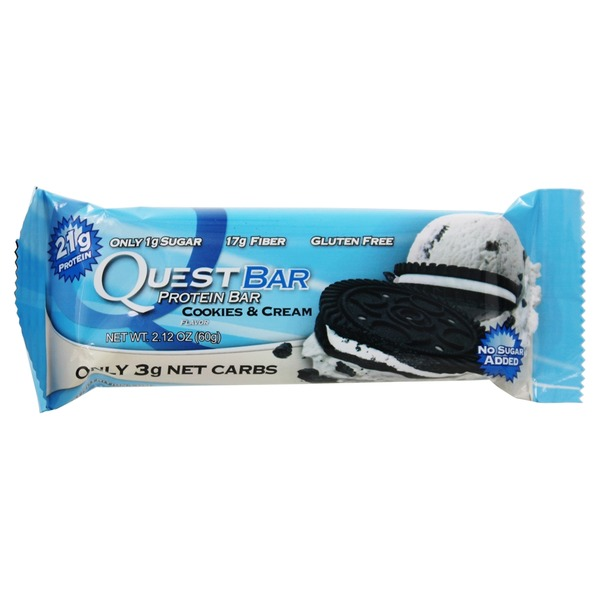QuestBar Protein Bar Cookies & Cream