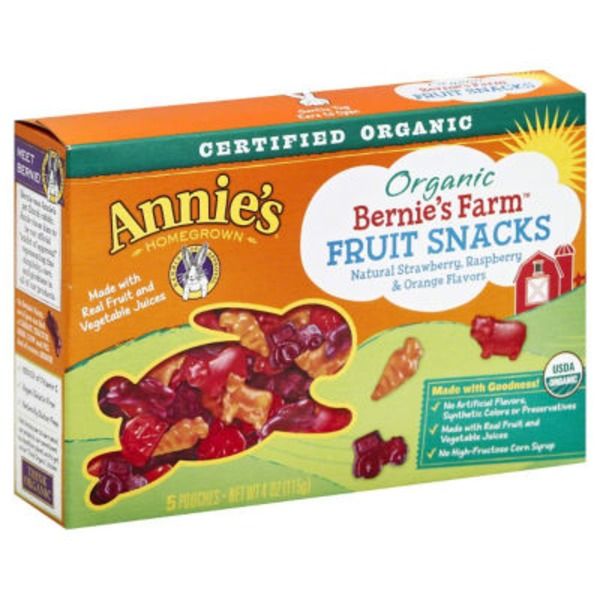 Annie's Homegrown Bernie's Farm Organic Fruit Snacks Fruit Snacks