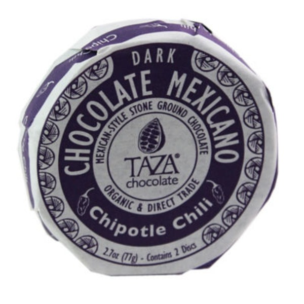 Taza Chipotle Chili Chocolate Mexicano Classic Discs