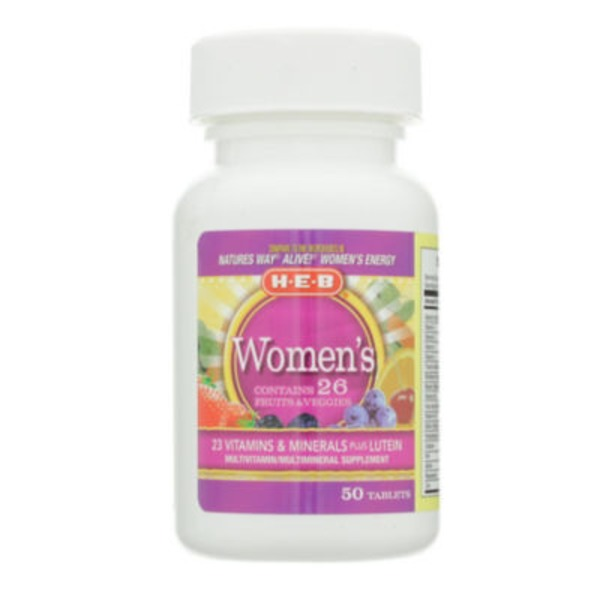 H-E-B Women's Energy Multivitamin Tablets
