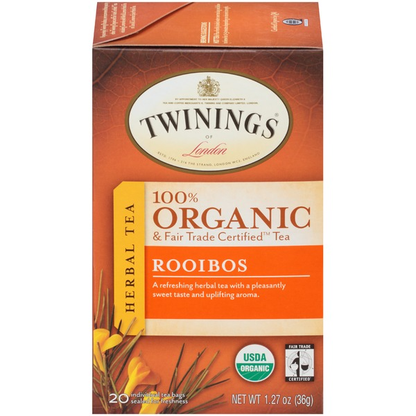 Twinings Organic & Fair Trade Certified Rooibos Herbal Tea Tea Bags