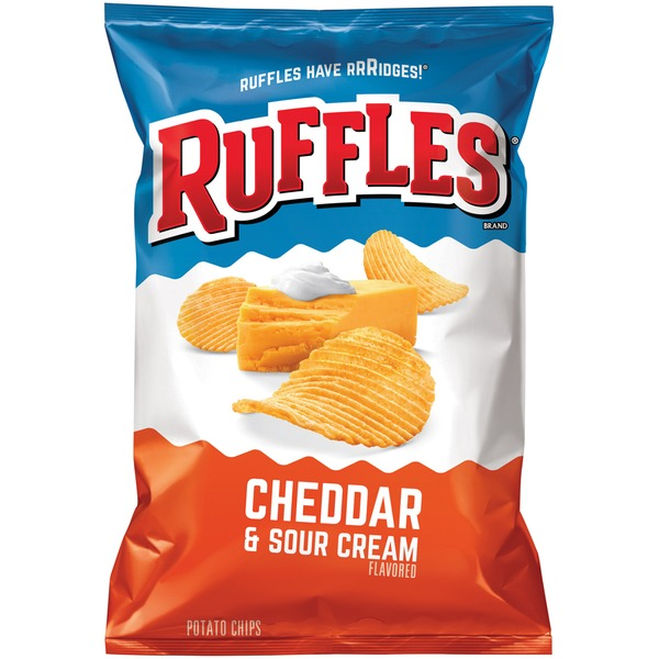 Ruffles Cheddar and Sour Cream Flavored Potato Chips