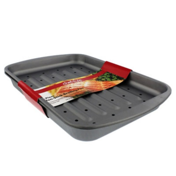 Chef Style 2 Piece Non Stick Broiling Pan