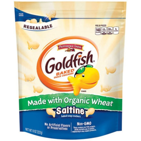 Pepperidge Farm Goldfish Baked Organic Wheat Saltine Soup Snack Crackers