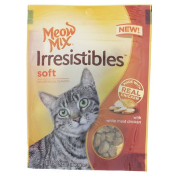 Meow Mix Irresistibles Soft with White Meat Chicken Cat Treats