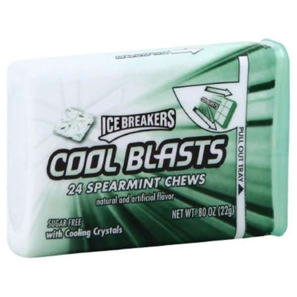 Ice Breakers Cool Blasts Spearmint Chews