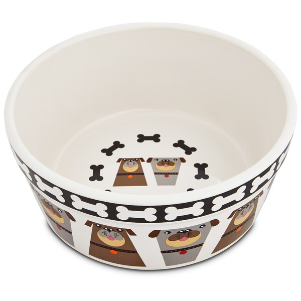 Harmony Tough Guys Ceramic Dog Bowl 3