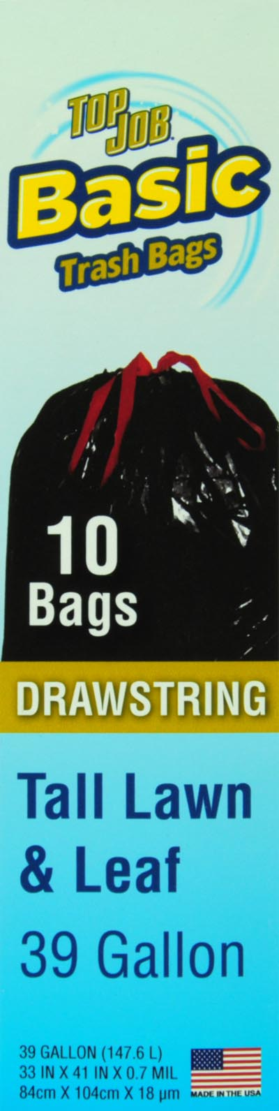 Top Job Tall Lawn & Leaf FlapDrawstring Trash Bags