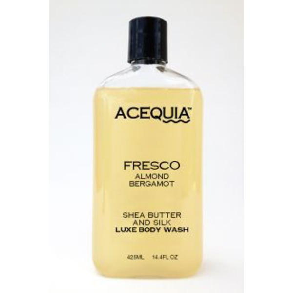 Acequia Fresco Almond Bergamot Shea Butter And Silk Luxe Body Wash