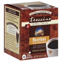 Teeccino Hazelnut 75% Organic Medium Roast Caffeine-Free Herbal Coffee