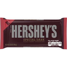 HERSHEY'S Extra Large SPECIAL DARK Mildly Sweet Chocolate Bar, 4.25 Ounces