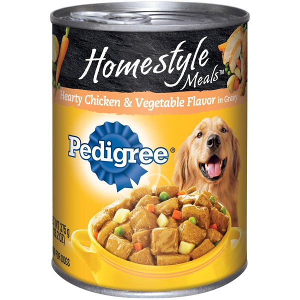 Pedigree Homestyle Meals Hearty Chicken & Vegetable Flavor in Gravy Dog Food