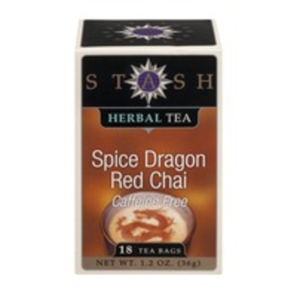 Stash Tea Herbal Tea Caffeine Free Spice Dragon Red Chai - 18 CT