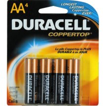 Duracell Coppertop Alkaline AA Batteries, 4 Count