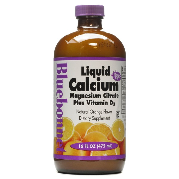 Bluebonnet Liquid Calcium Magnesium Citrate Plus Vitamin D3 Orange
