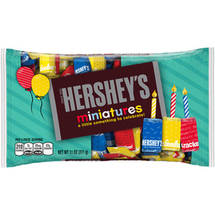 Hershey's Birthday Miniatures Candy Red Yellow Blue