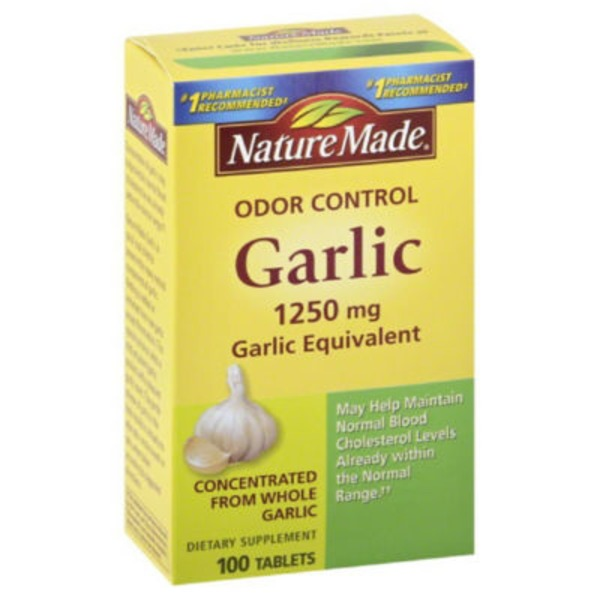 Nature Made Odor Control 1250 mg Garlic Equivalent Dietary Supplement- 100 CT
