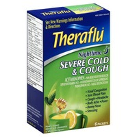Theraflu Nighttime Severe Cold & Cough Honey Lemon Powder Pain Reliever/Fever Reducer/Antihistamine/Cough Supressant/Nasal Decongestant