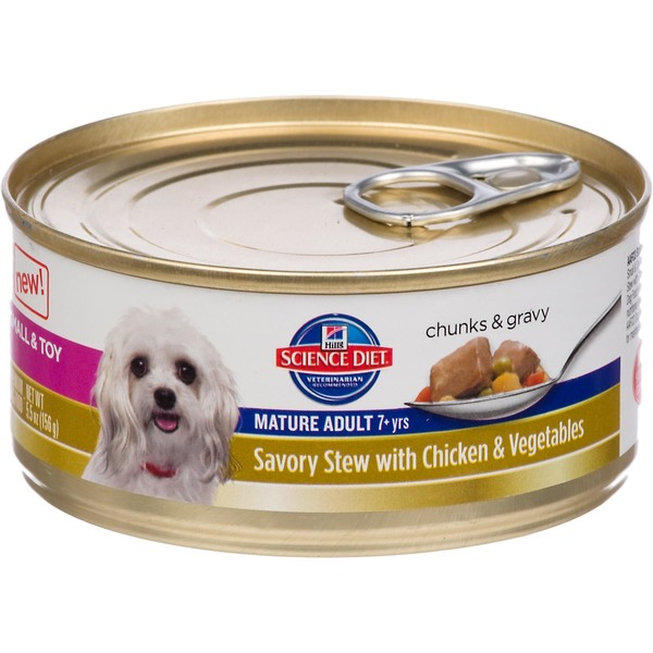 Hill's Science Diet Savory Stew With Chicken & Vegetables Small & Toy Mature Adult Canned Dog Food