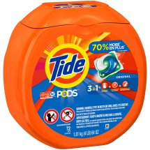Tide PODS Laundry Detergent Pacs, Original Scent, 72 Count