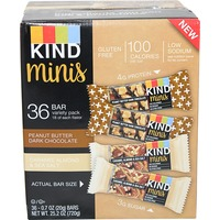 KIND Minis Peanut Butter & Dark Chocolate & Carmel & Almond Snack Size Bars