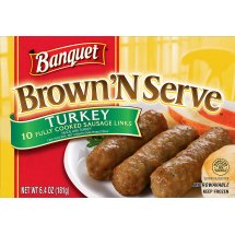 Banquet Brown 'N Serve Turkey Sausage Links, 6.4 Ounce, 10-Count