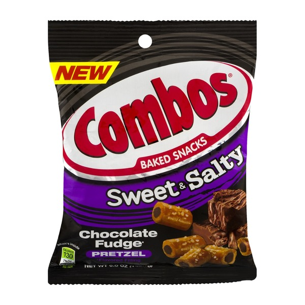 Combos Baked Snacks Sweet & Salty Chocolate Fudge Pretzel
