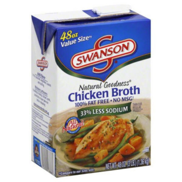Swanson's Natural Goodness 33% Less Sodium Chicken Broth