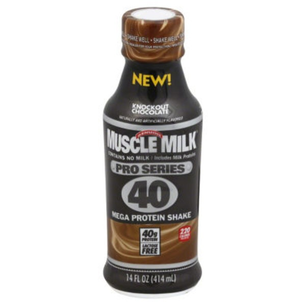 Muscle Milk Pro Series Knockout Chocolate Non Dairy Protein Shake