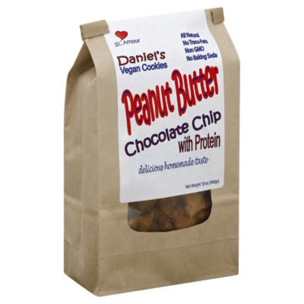 Daniels Vegan Peanut Butter Chocolate Chip  with Protein Cookies