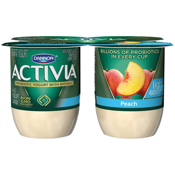 Activia Light Light Peach Nonfat Probiotic Yogurt