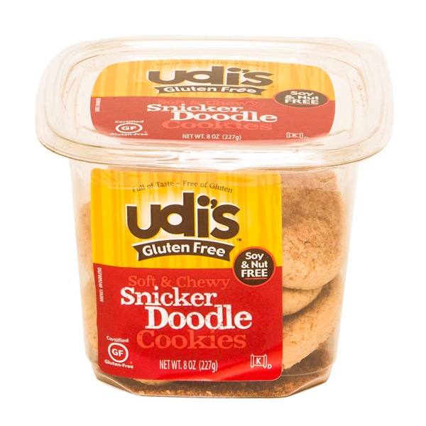 Udi's Gluten Free Soft & Chewy Snicker Doodle Cookies