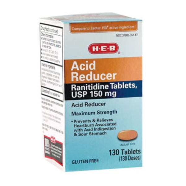 H-E-B Acid Reducer Maximum Strength Tablets