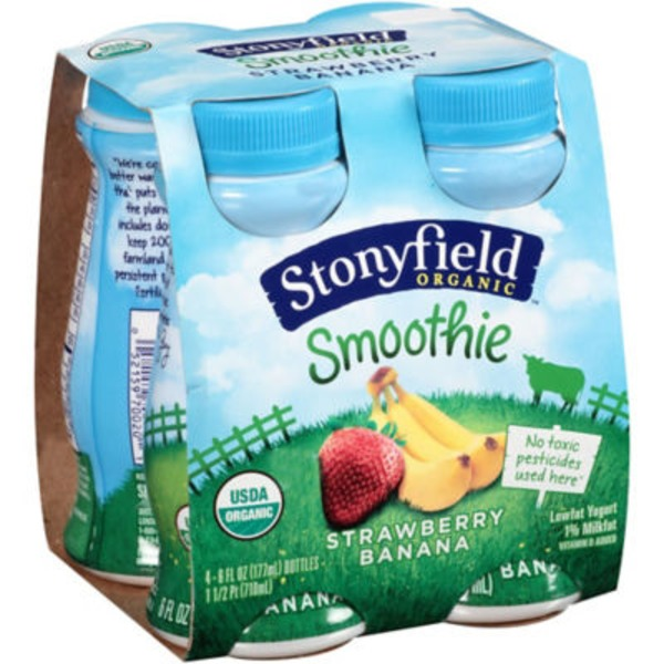 Stonyfield Organic Organic Strawberry Banana Smoothie