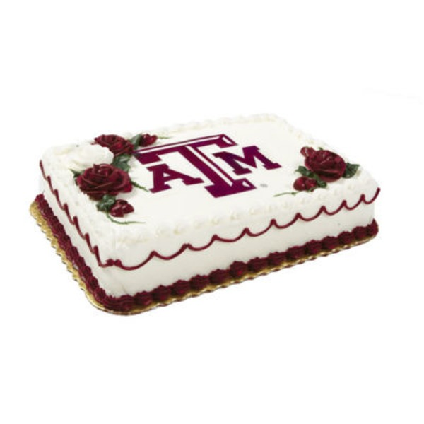 Texas A & M Cake 1/2 Sheet Cake, Serves 48