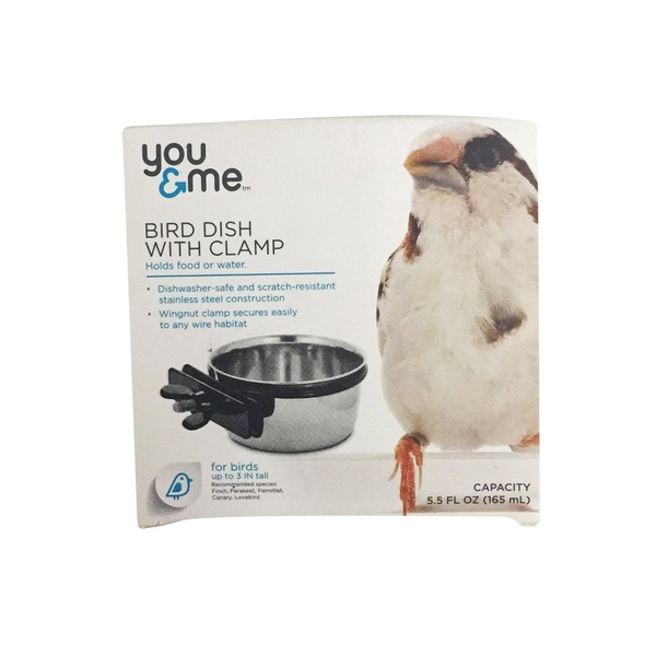 You & Me Bird Dish With Clamp
